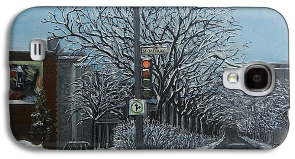 Montreal Paintings Galaxy S4 Cases - Rue St Jacques Galaxy S4 Case by Reb Frost