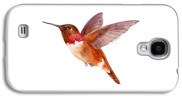 Rufous Hummingbird Galaxy S4 Case by Amy Kirkpatrick