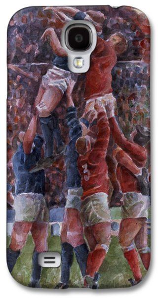 Game Photographs Galaxy S4 Cases - Rugby International, Wales V Scotland Wc On Paper Galaxy S4 Case by Gareth Lloyd Ball