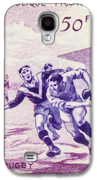 Rugby Paintings Galaxy S4 Cases - Rugby Galaxy S4 Case by Lanjee Chee