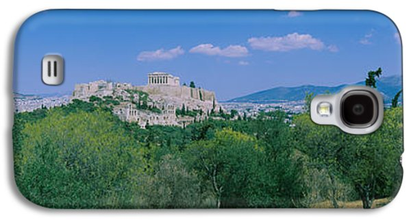 Ancient Civilization Galaxy S4 Cases - Ruined Buildings On A Hilltop Galaxy S4 Case by Panoramic Images