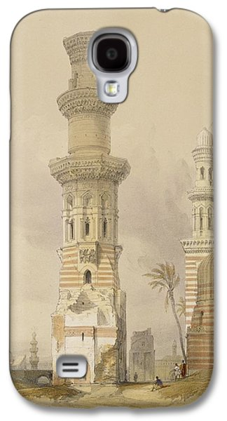 Ruin Galaxy S4 Cases - Ruined Mosques in the Desert Galaxy S4 Case by David Roberts