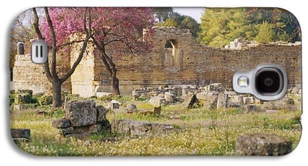 Ancient Civilization Galaxy S4 Cases - Ruins Of A Building, Ancient Olympia Galaxy S4 Case by Panoramic Images