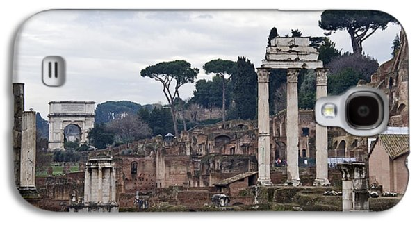 Civilization Galaxy S4 Cases - Ruins Of A Building, Roman Forum, Rome Galaxy S4 Case by Panoramic Images