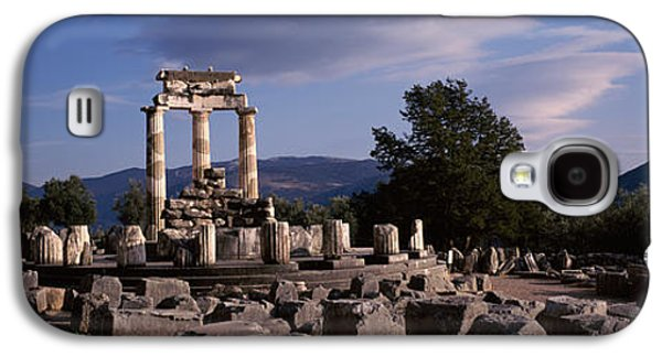 Ancient Civilization Galaxy S4 Cases - Ruins Of A Temple, The Tholos, Delphi Galaxy S4 Case by Panoramic Images