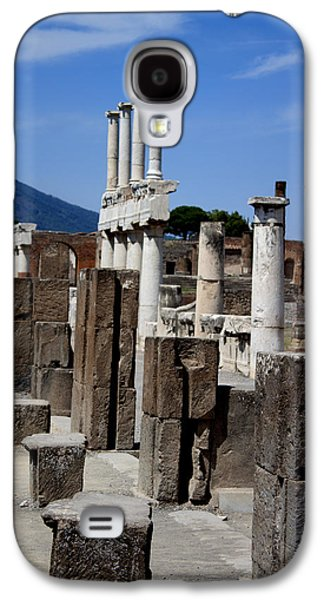 Original Photographs Galaxy S4 Cases - Ruins of Ancient Roman Columns in Pompeii Galaxy S4 Case by Ivete Basso