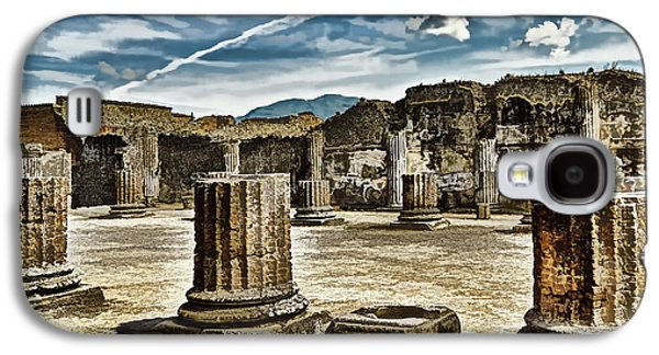 Colum Galaxy S4 Cases - Ruins of Pompeii - Naples Italy Galaxy S4 Case by Jon Berghoff