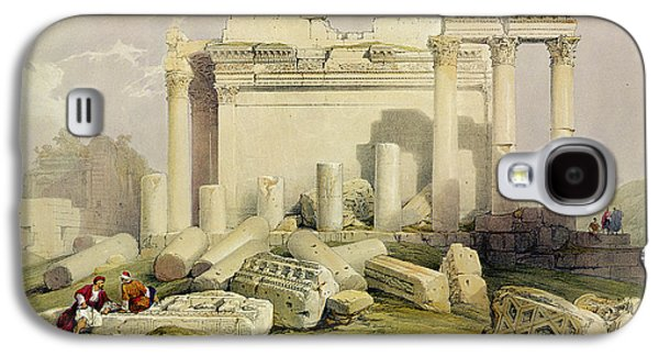 Landscapes Drawings Galaxy S4 Cases - Ruins Of The Eastern Portico Galaxy S4 Case by David Roberts