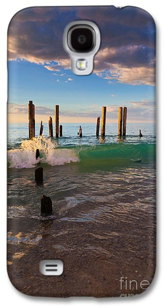 Ruin Galaxy S4 Cases - Ruins of the old Port Willunga Jetty Galaxy S4 Case by Bill  Robinson