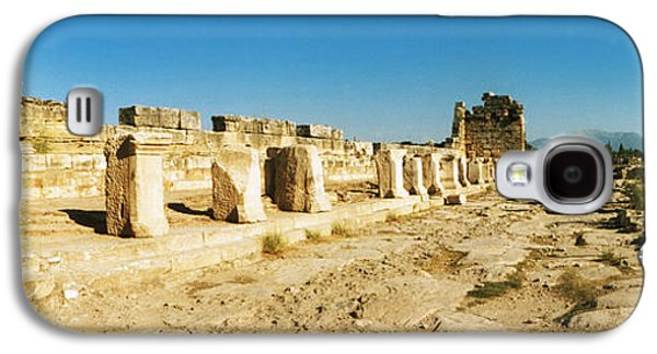 Ancient Galaxy S4 Cases - Ruins Of The Roman Town Of Hierapolis Galaxy S4 Case by Panoramic Images