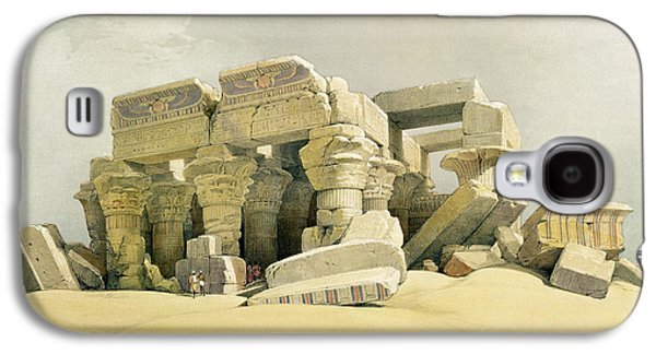 Columns Galaxy S4 Cases - Ruins of the Temple of Kom Ombo Galaxy S4 Case by David Roberts