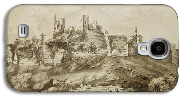 Ruins Of Wigmore Castle Galaxy S4 Case by British Library