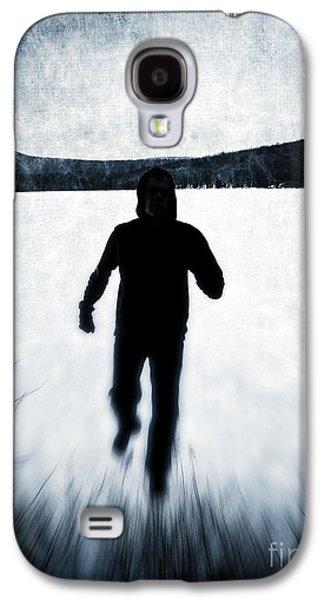 Black Man Galaxy S4 Cases - Run  Galaxy S4 Case by Edward Fielding