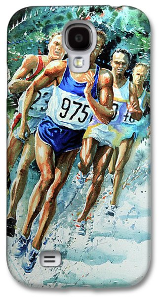 Sports Artist Galaxy S4 Cases - Run For Gold Galaxy S4 Case by Hanne Lore Koehler