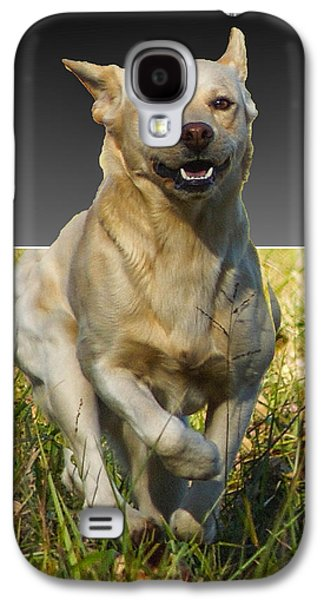 Puppies Pyrography Galaxy S4 Cases - Run Puppy Run Galaxy S4 Case by B Wayne Mullins