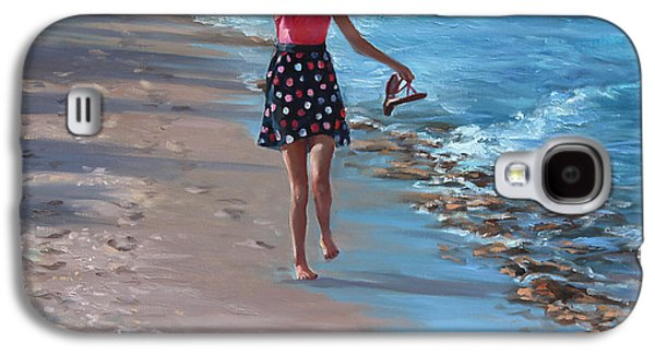 Beach Landscape Galaxy S4 Cases - Run with Joy Galaxy S4 Case by Laurie Hein