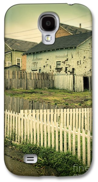 Telephone Poles Galaxy S4 Cases - Rundown Shacks Galaxy S4 Case by Jill Battaglia