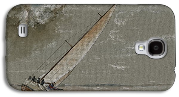 Storms Paintings Galaxy S4 Cases - Running away from the storm Galaxy S4 Case by Juan  Bosco