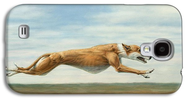 Dog Running. Galaxy S4 Cases - Running Free Galaxy S4 Case by James W Johnson