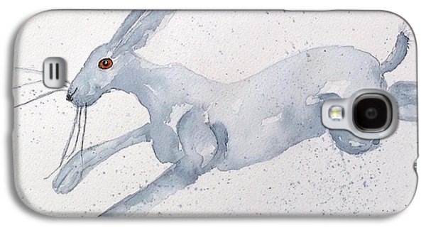 March Hare Galaxy S4 Cases - Running Hare Galaxy S4 Case by Karen  Connolly