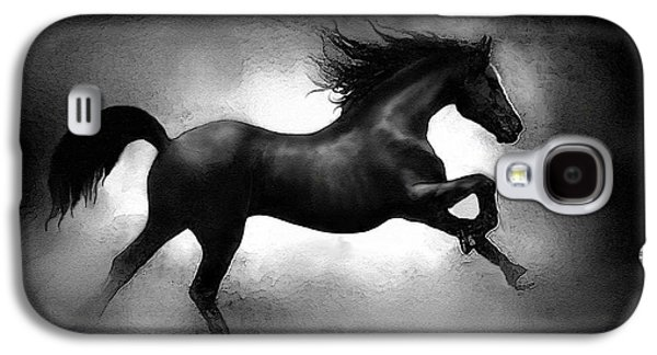 Stampede Digital Art Galaxy S4 Cases - Running Horse Galaxy S4 Case by Robert Foster