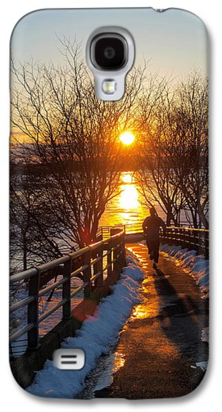 Running In Sunset Galaxy S4 Case by Paul Ge