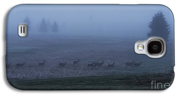 Deer Galaxy S4 Cases - Running in the mist Galaxy S4 Case by Yuri Santin