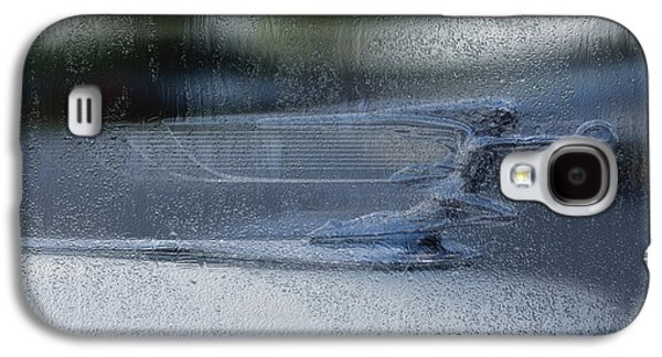 Car Mascot Digital Galaxy S4 Cases - Running In The Rain Galaxy S4 Case by Jack Zulli