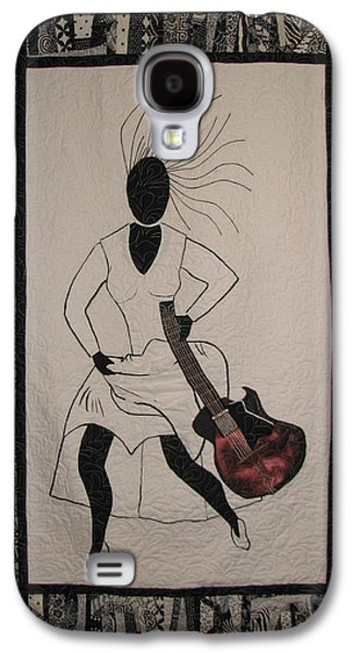 African-americans Tapestries - Textiles Galaxy S4 Cases - Running Late Galaxy S4 Case by Aisha Lumumba