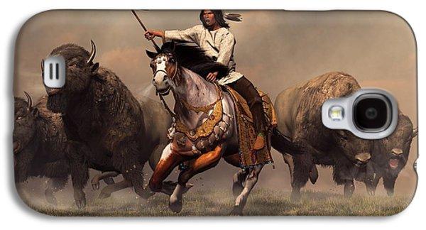 Running With Buffalo Galaxy S4 Case by Daniel Eskridge