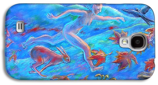 Running With The Hare Galaxy S4 Case by Trudi Doyle