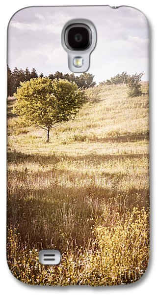 Landscapes Photographs Galaxy S4 Cases - Rural landscape with single tree Galaxy S4 Case by Elena Elisseeva