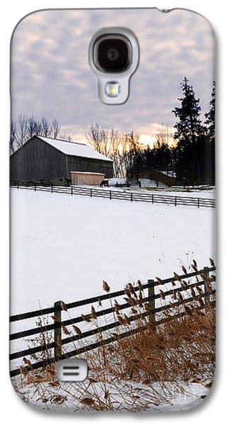 Sun Galaxy S4 Cases - Rural winter landscape Galaxy S4 Case by Elena Elisseeva
