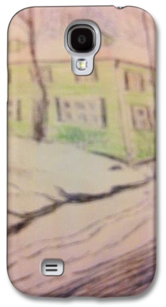 Trees In Snow Drawings Galaxy S4 Cases - Russian Christmas  Galaxy S4 Case by Christine Degyansky