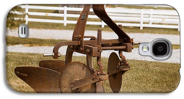 Component Photographs Galaxy S4 Cases - Rusted Farm Machinery Galaxy S4 Case by Terry Weaver