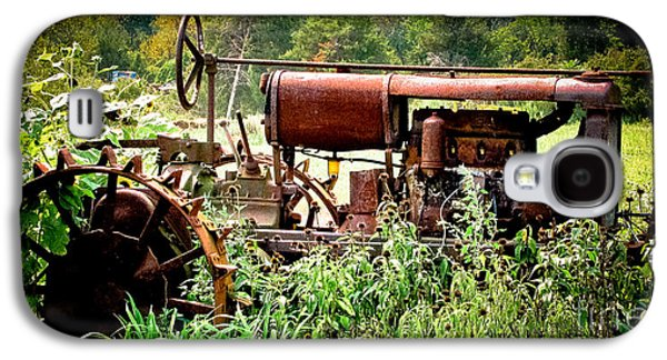 Original Art Photographs Galaxy S4 Cases - Rusted Red Tractor Galaxy S4 Case by Colleen Kammerer