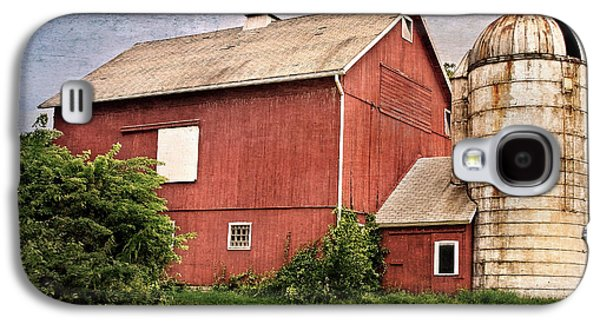 Connecticut Landscape Galaxy S4 Cases - Rustic Barn Galaxy S4 Case by Bill  Wakeley