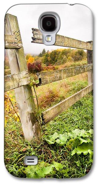 Autumn Landscape Digital Art Galaxy S4 Cases - Rustic Landscapes - Broken fence Galaxy S4 Case by Gary Heller