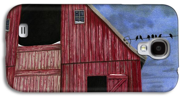 Rustic Red Barn In Winter Galaxy S4 Case by Sarah Batalka