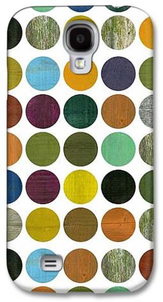 Colorful Abstract Galaxy S4 Cases - Rustic Rounds 75 Number Two Galaxy S4 Case by Michelle Calkins