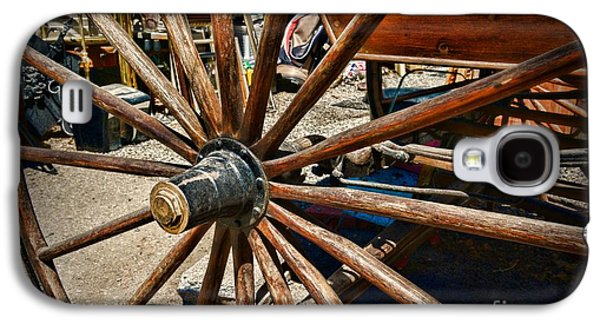 Wooden Wagons Galaxy S4 Cases - Rustic Wagon Wheel Galaxy S4 Case by Paul Ward