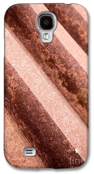 Machinery Galaxy S4 Cases - Rusty Gears Abstract Galaxy S4 Case by Edward Fielding