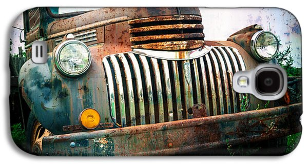 Rusted Cars Galaxy S4 Cases - Rusty Old Chevy Pickup Galaxy S4 Case by Edward Fielding