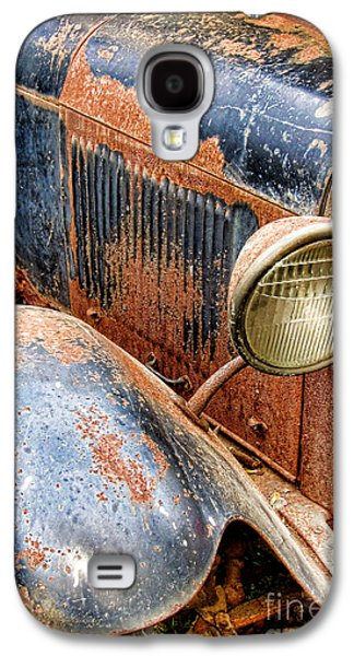Rusted Cars Galaxy S4 Cases - Rusty Vintage Automobile Galaxy S4 Case by Olivier Le Queinec