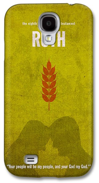Ruth Books Of The Bible Series Old Testament Minimal Poster Art Number 8 Galaxy S4 Case by Design Turnpike