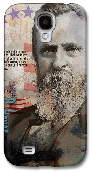James Buchanan Galaxy S4 Cases - Rutherford B. Hayes Galaxy S4 Case by Corporate Art Task Force