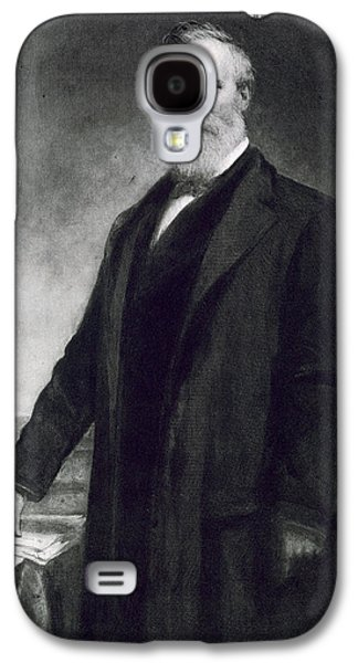 Politics Paintings Galaxy S4 Cases - Rutherford B Hayes Galaxy S4 Case by Daniel Huntington