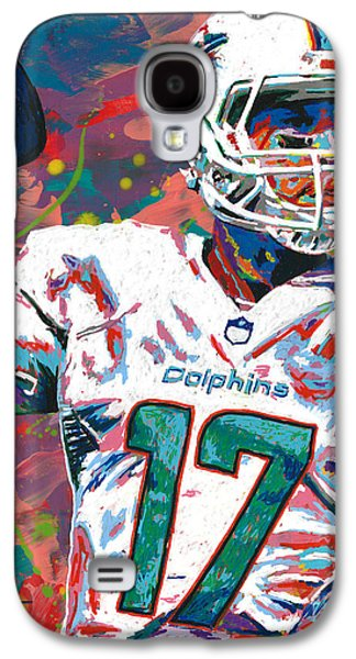 Arango Galaxy S4 Cases - Ryan Tannehill Galaxy S4 Case by Maria Arango