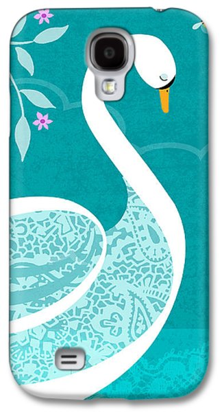 Flies Mixed Media Galaxy S4 Cases - S is for Swan Galaxy S4 Case by Valerie   Drake Lesiak
