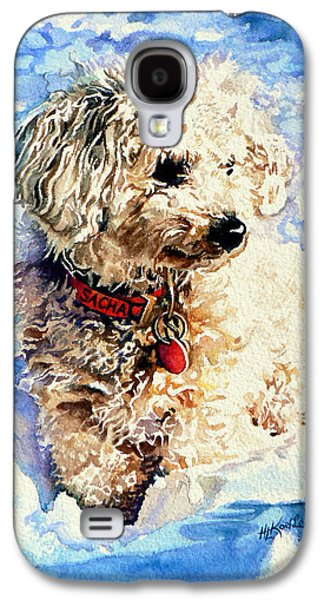 Dogs In Snow. Galaxy S4 Cases - Sacha Galaxy S4 Case by Hanne Lore Koehler